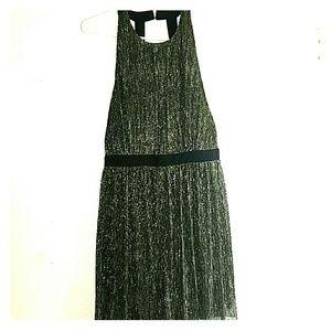 Black, Gold, & Silver - •WYLDR•   Halter-Top Dress